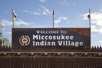 Welcome to Miccosukee Indian Village Sign