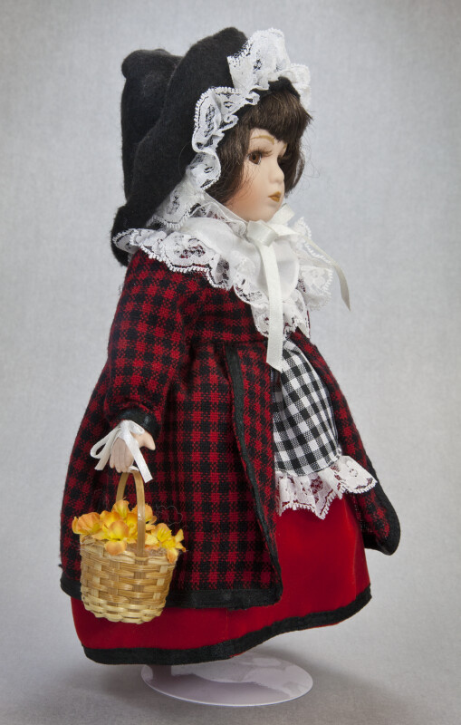 Wales - Welsh Girl Holding a Basket of Daffodils (Side View)