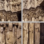 West portals, Chartres cathedral photographs