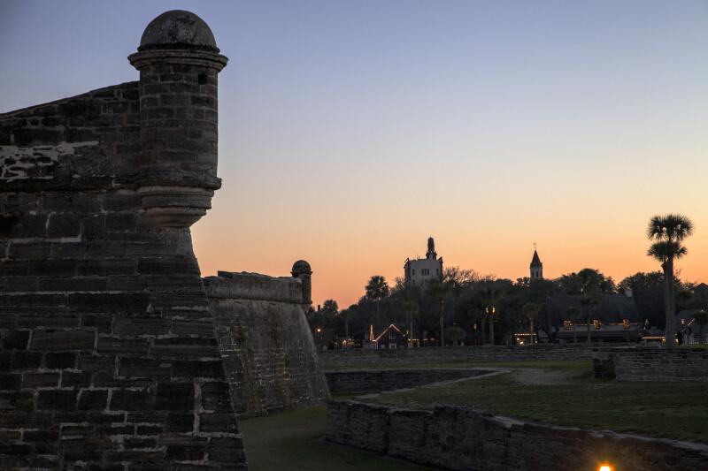 Western Corners of Castillo de San Marcos