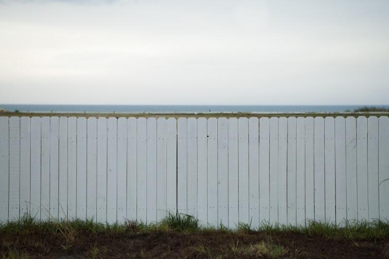 white fence. White Fence Near Beach N