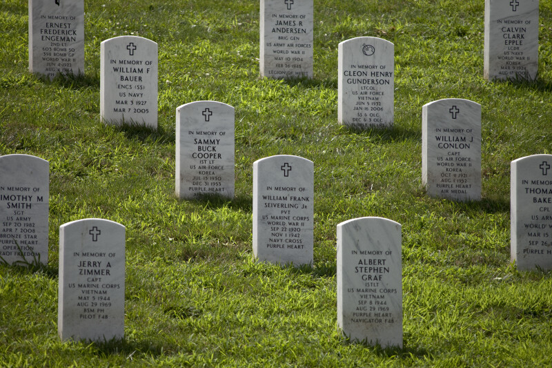 White Grave Markers