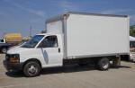 White, Medium-Sized Truck