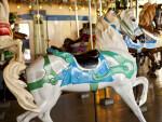 White Merry-Go-Round Horse