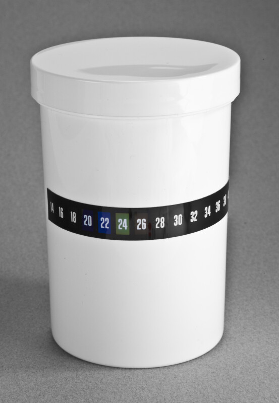White Plastic Jar for Collecting Water Samples