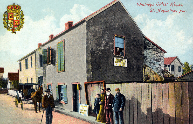Whitney's Oldest House in St. Augustine, Florida