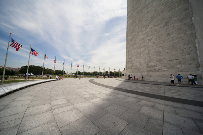 Wide Angle of Washington Monument