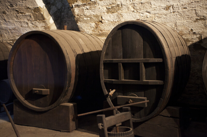 Wine Casks in the Cellar