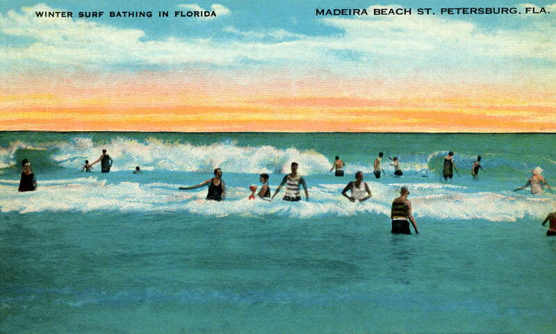 Winter Surf Bathing in Florida
