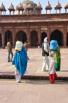 Women Carry Buckets towards Jami Masjid
