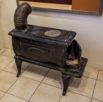 Wood Burning Stove at Castolon Store