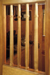 Wooden Bars in the Door