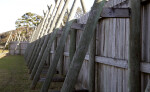 Wooden Beams and Boards which Compose the Walls of the Reconstructed Fort Caroline Site