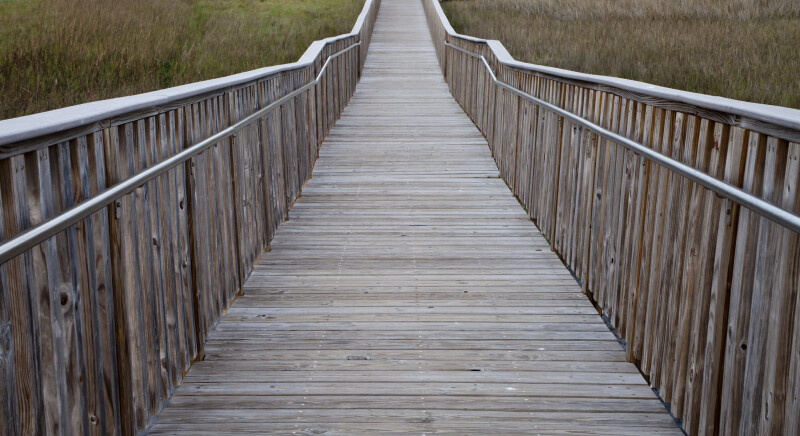 Wooden Boardwalk With Aluminum Rails