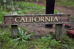 Wooden California Sign