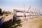 Wooden Fence at Fort Caroline National Memorial