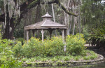 Wooden Gazebo Surrounded by a Moat