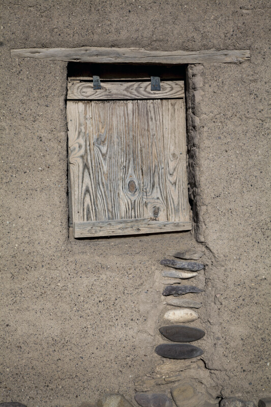 Wooden Hatch on Window of Alvino House