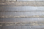 Wooden Planks Nailed in Place