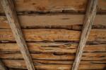Wooden Slabs of Schumacher House's Roof at the San Antonio Botanical Garden