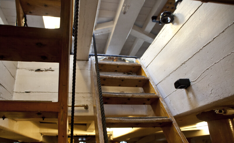 Wooden Stairs between the Gun Deck and the Berth