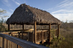Wooden Tiki Hut at Kirby Storter Park of Big Cypress National Preserve