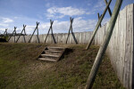 Wooden Walls Surrounding the Reconstructed Fort Caroline