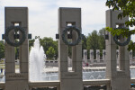 World War Two Memorial Pillars and Fountain