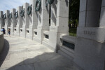 World War Two Memorial Pillars