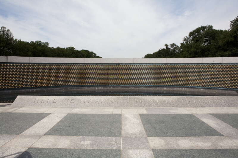 World War Two Memorial Wall