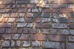 Worn Brick Pavement