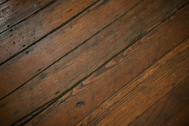 Worn Wooden Floor