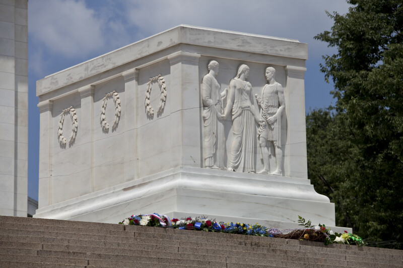 Wreaths at the Tomb of the Unknowns