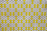 Yellow and White Tiled Wall