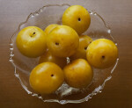 Yellow Fruit in Glass Bowl