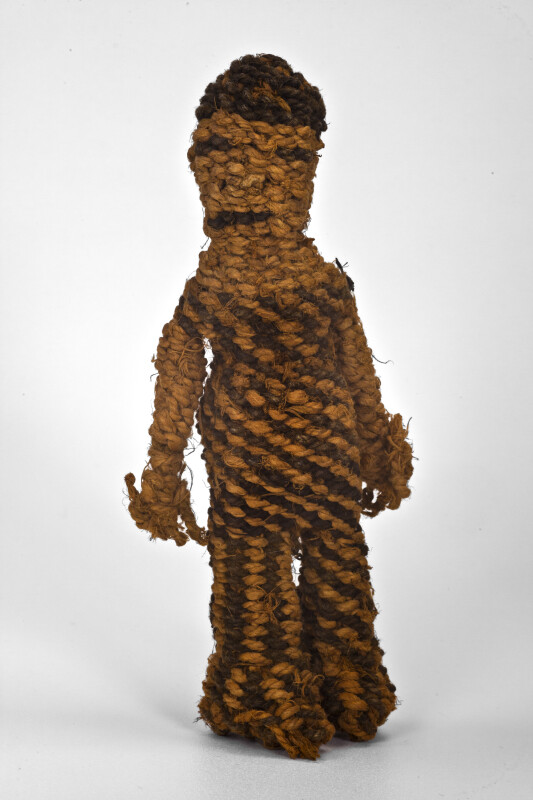 Zimbabwe Traditional Children's Doll Made with Baobab Fiber (Full View)