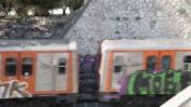 A Train With Grafiti In Athens