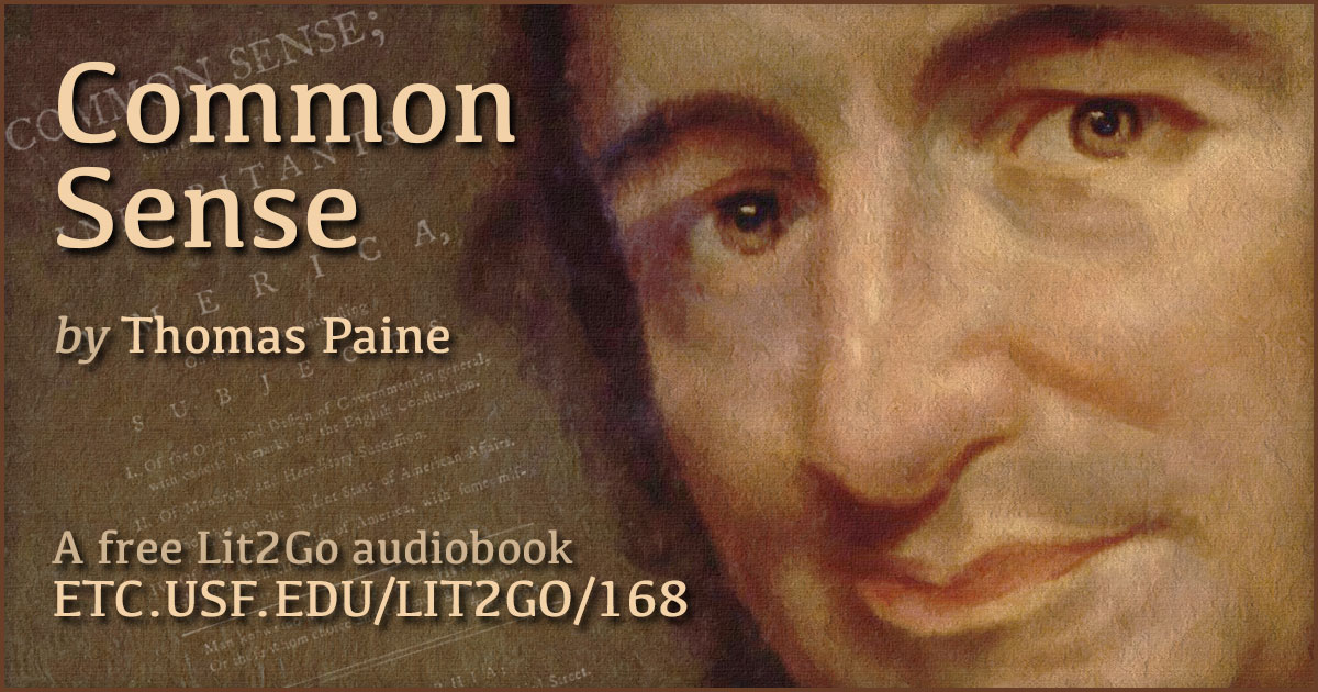 Appendix Common Sense Thomas Paine Lit2go Etc