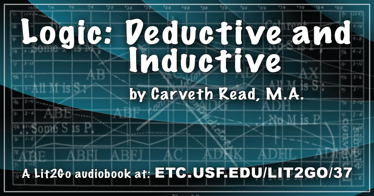 Chapter 2 Logic Deductive And Inductive Carveth Read Ma