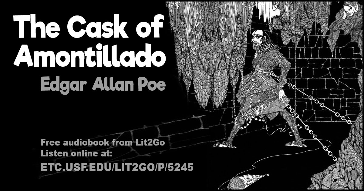 analysing the plot of edgar allan poes the cask of amontillado Posted on june 1, 2017, in literature and tagged american literature, analysis, books, close reading, edgar allan poe, short story analysis, summary, the cask of amontillado bookmark the permalink.