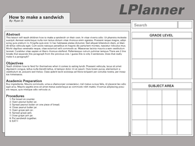 first lplanner design