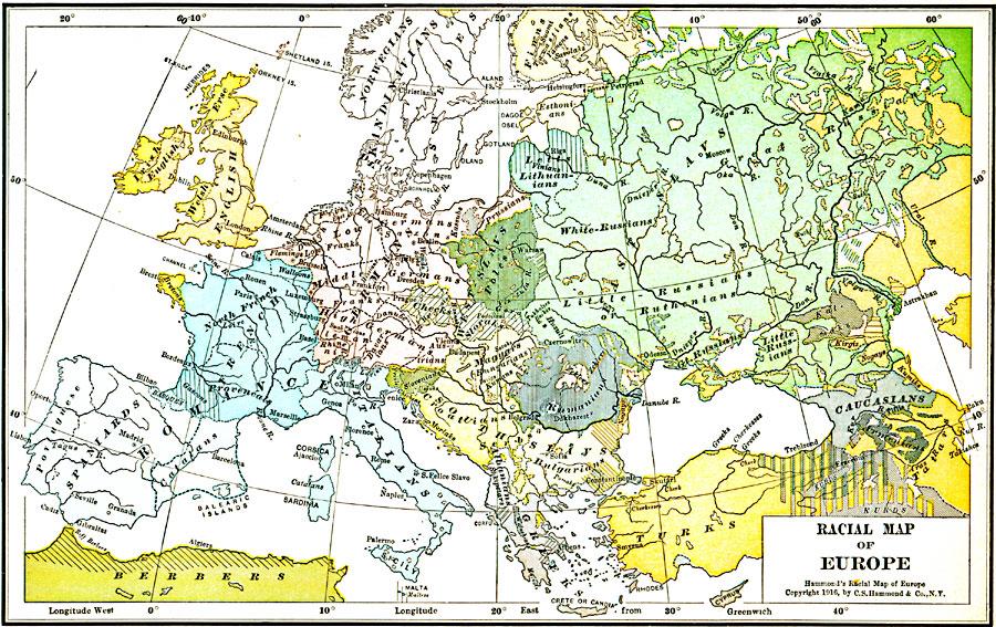 Racial Map of Europe