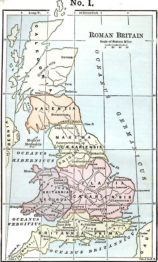 Map Of England 1000 Ad.Roman Britain