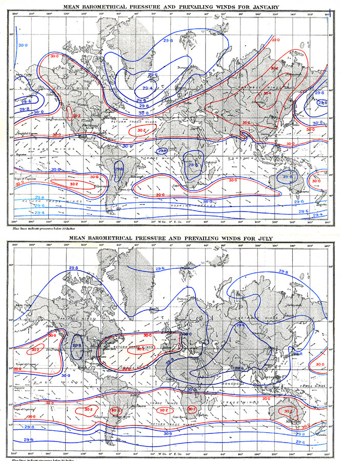 The World: Distribution of Atmospheric Pressure