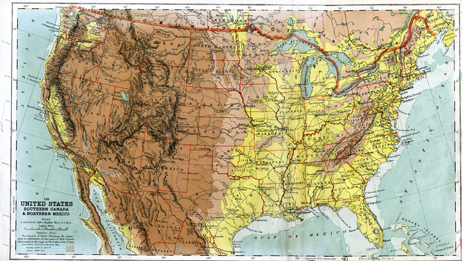 Jpg - Map of southern us and mexico