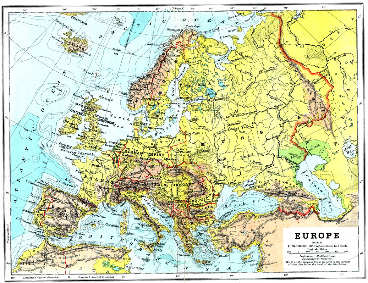 Europe Complete Maps - Map europe major cities