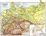 Map Of Germany Showing Major Cities.Europe Germany