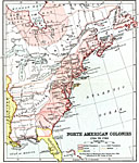 North American Colonies 1755 1763 A Map Of Eastern North America Showing The Colonial Possessions At The Time Of The French And Indian War 1755 1763