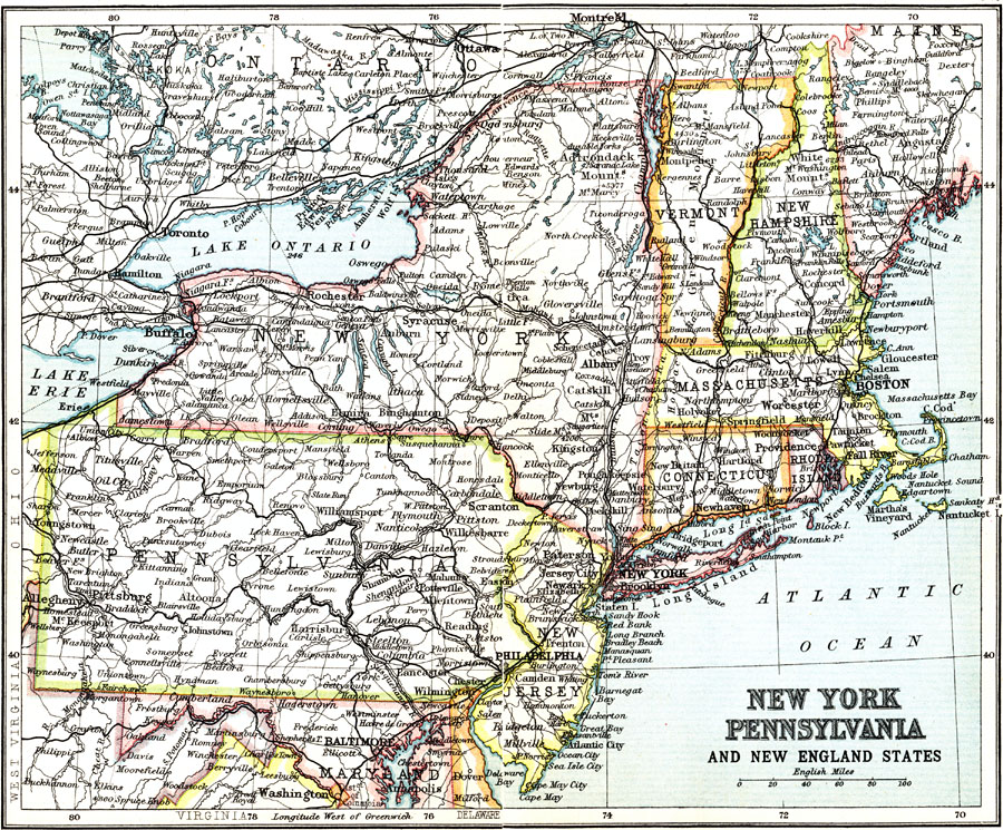 New York Pennsylvania And New England States Political