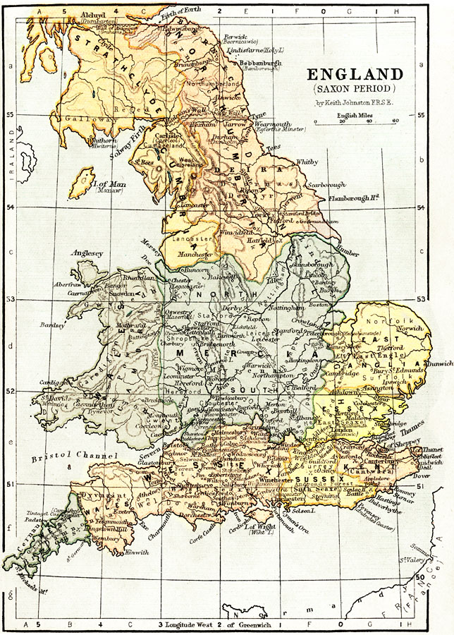 Map Of England 450 Ad.England During The Saxon Period